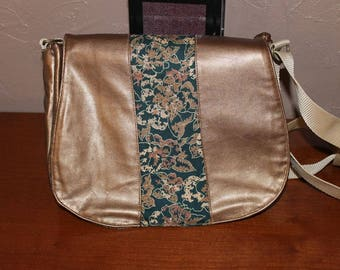 BI-material faux leather bag and tissue