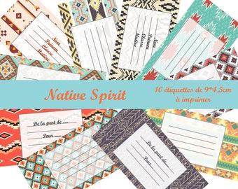 "Plate 10 ""Native spirit"" printable tags send MAIL"