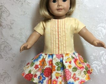 Cool summer dress fits American Girl Doll