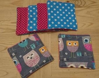 Eco-friendly wipes owls set of 6 designs