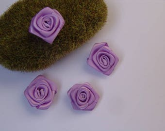 Purple Rose satin - 2.50 cm in diameter