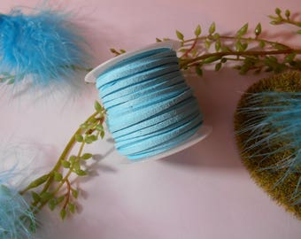 Suede - turquoise - wire suede cord - 1 m