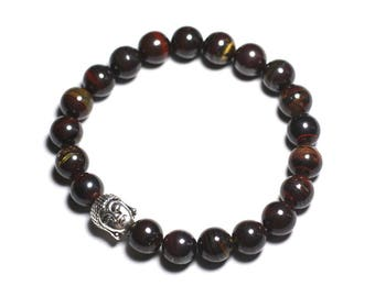 Gemstone - iron eye Buddha bracelet