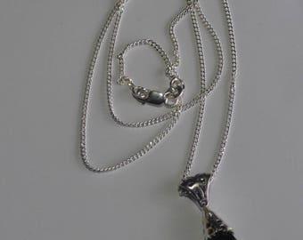 Swarovski black goddess necklace 925 sterling silver