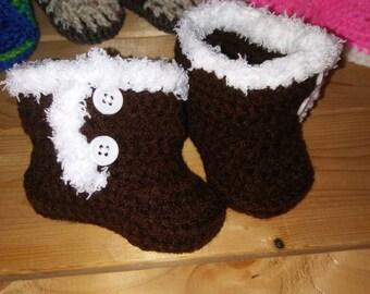 Baby UGGs Crochet Booties 0-3 months