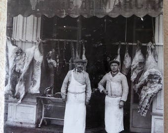Old photo - trade butcher year Toulouse Street. 30 print on canvas