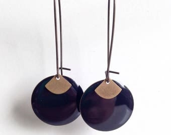 Earrings - elegant - black
