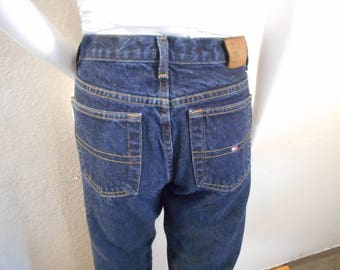 Tommy Hilfiger/waist 28/ jeans straight leg boyfriend fit dark wash