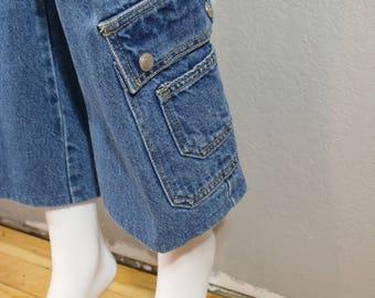 Vintage 90s jeans/waist 27 / cropped, flared jeans,skater jeans, grunge