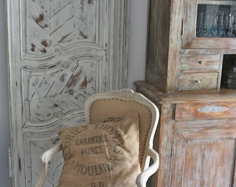 """A door d old cabinet solid oak weathered """"Shabby"""""""