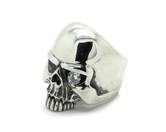 Huge Terminator Scull Men Ring Sterling Solid Silver 925 SKU700610