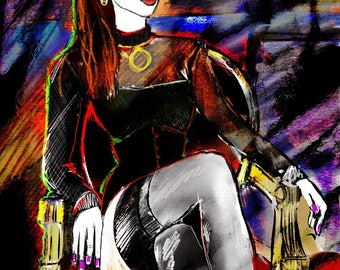 Digital woman portrait