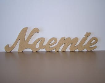 Names 6 letters to chose from: 5 cm approx decorate wooden