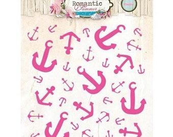 Stencil Mask Studiolight Romantic Summer nr.01 anchor new