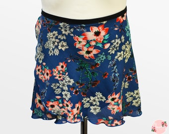Veronica - Ballet Wrap Skirt - Ballet Skirt - Dance Skirt - Floral Ballet Skirt - Flourish Dancewear