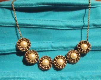"the ""Swirl"" Creat necklace ' Y. O.N - unique & bronze-"