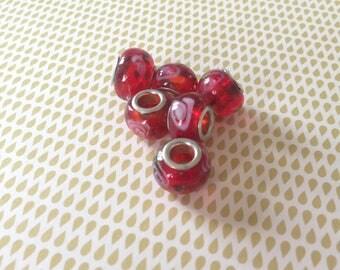 1 x glass of Murano / Lampwork European beads handmade