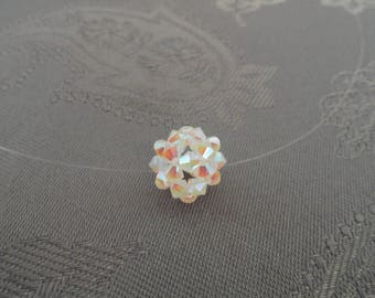 Ball pendant with white Swarovski Crystal beads