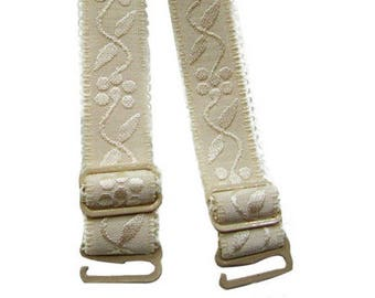 A PAIR OF UNBLEACHED REMOVABLE STRAPS