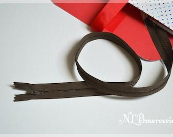 Zipper metal color taupe 55 cm