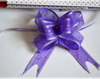 Set of 2 automatic bows for gifts or decoration - 4 colors available