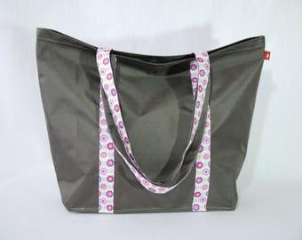 Tote bag - Gray beach bag taupe