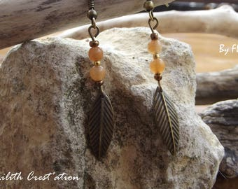 Red Aventurine - stone earrings