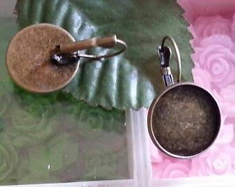 top: 18mm 1 holder for earrings studs