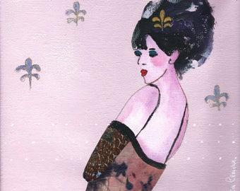 Lily portrait acrylic on canvas 20 x 20 cm