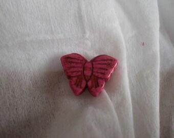 narturells howlite Butterfly bead