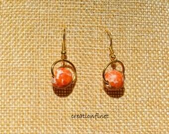 Small faience bead earring