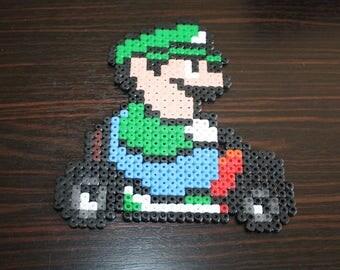 Pearls Hama Mario Kart (Luigi)