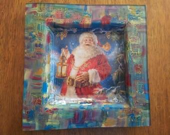 """Santa"" glass plate xxxxx xxxxx xxxx xxxxx"