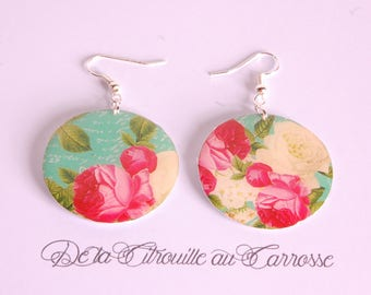 Romantic floral earrings