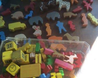 1950's Wooden Children's blocks, well over 100 pieces rare vintage/retro
