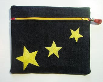 "Kit ""Noreen"" yellow stars - makeup case"