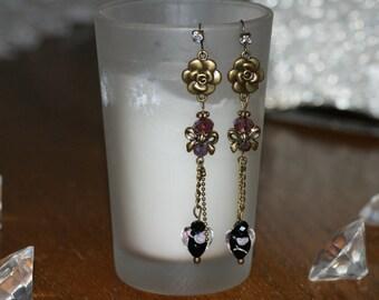"""Earrings """"Coup de coeur"""" Crystal beads"""