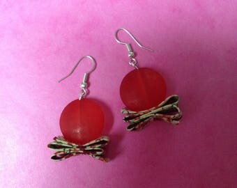 sour candy red earrings