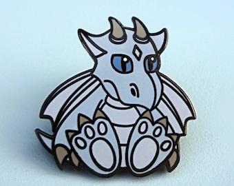 Blue Dragon Pin / Dragon Badge / Dragon Enamel Pin / Blue Enamel Pin / Pastel Pin / Cute Pin / Dragon Lapel Pin
