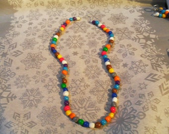 lovely, unique and original necklace multicolor very cheerful
