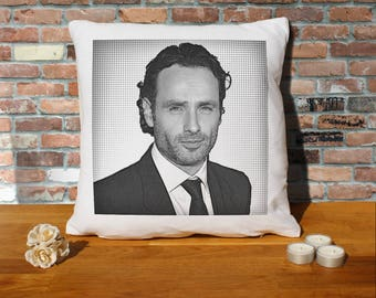 Andrew Lincoln Pillow Cushion - 16x16in - White