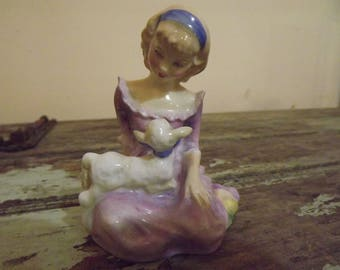 Charming Royal Doulton figurine - 'Mary Had A Little Lamb' - HN 2048.