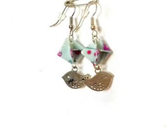 origami blue Prism earrings