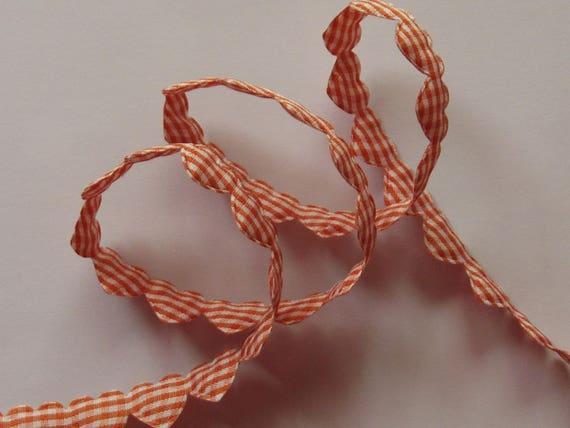 Orange heart Ribbon pattern cotton
