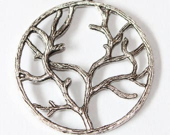 shrub pendant 42 mm, set of 2 silver