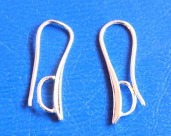 Drop earring in 925 sterling silver, 23.5 mm pair