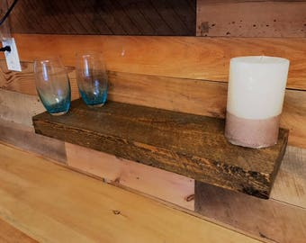 "WoodGurus Reclaimed Pine Floating Shelf Kit 48""x10""x2"""