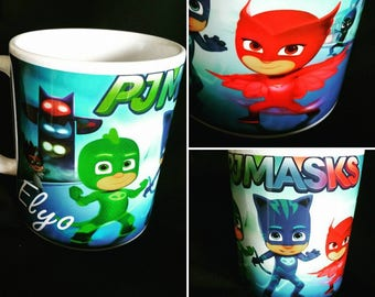 Pyjamasques mug / personalized PJmaskes