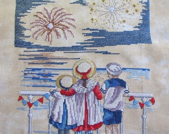 "Embroidery ""Fireworks"" cross stitch"