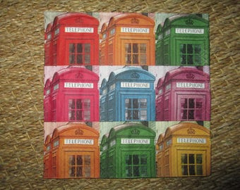 towel cabin telephone London, England colors